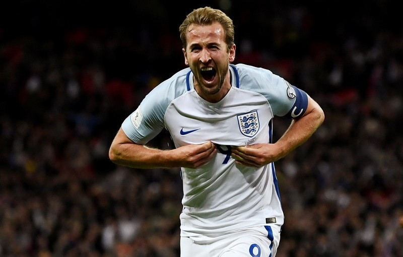 Soccer Football - 2018 World Cup Qualifications - Europe - England vs Slovenia - Wembley Stadium, London, Britain - October 5, 2017   England's Harry Kane celebrates scoring their first goal    REUTERS/Dylan Martinez     TPX IMAGES OF THE DAY